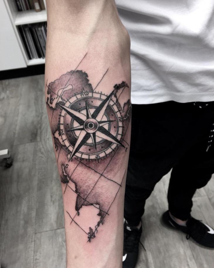 World map compass tattoo gumiabroncs Gallery