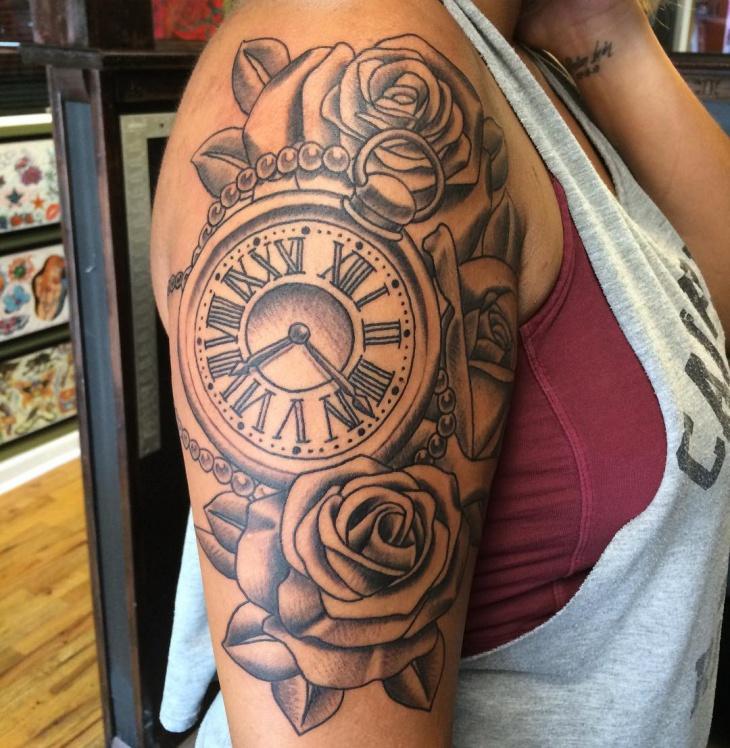 Black And Color Tattoo Gray Splash