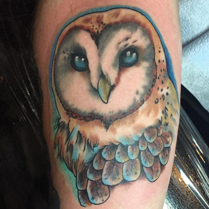 barn owl tattoo - 730×730