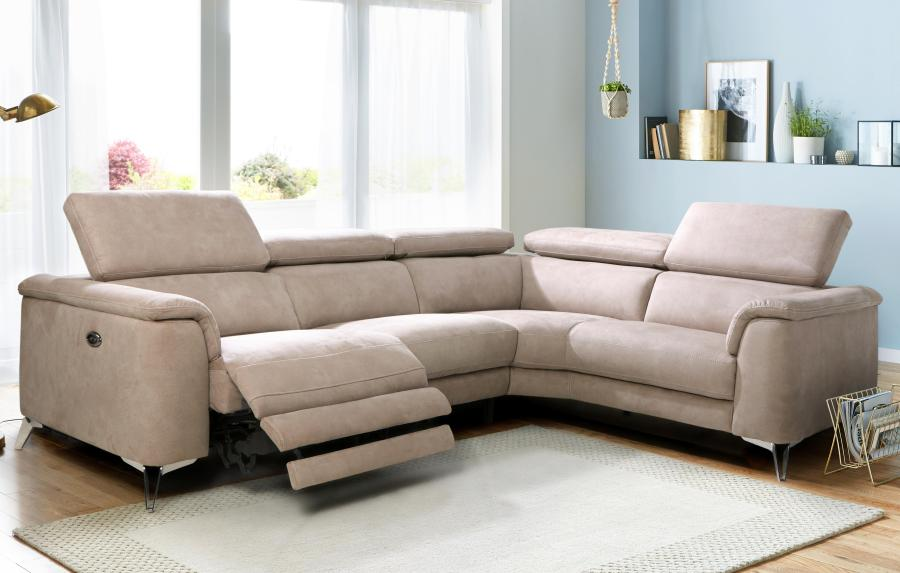 Fabric Recliner Sofas In Classic   Modern Styles   DFS Tahiti Option C Left Hand Facing 2 Seat 2 Piece Electric Recliner Corner  Group Arizona
