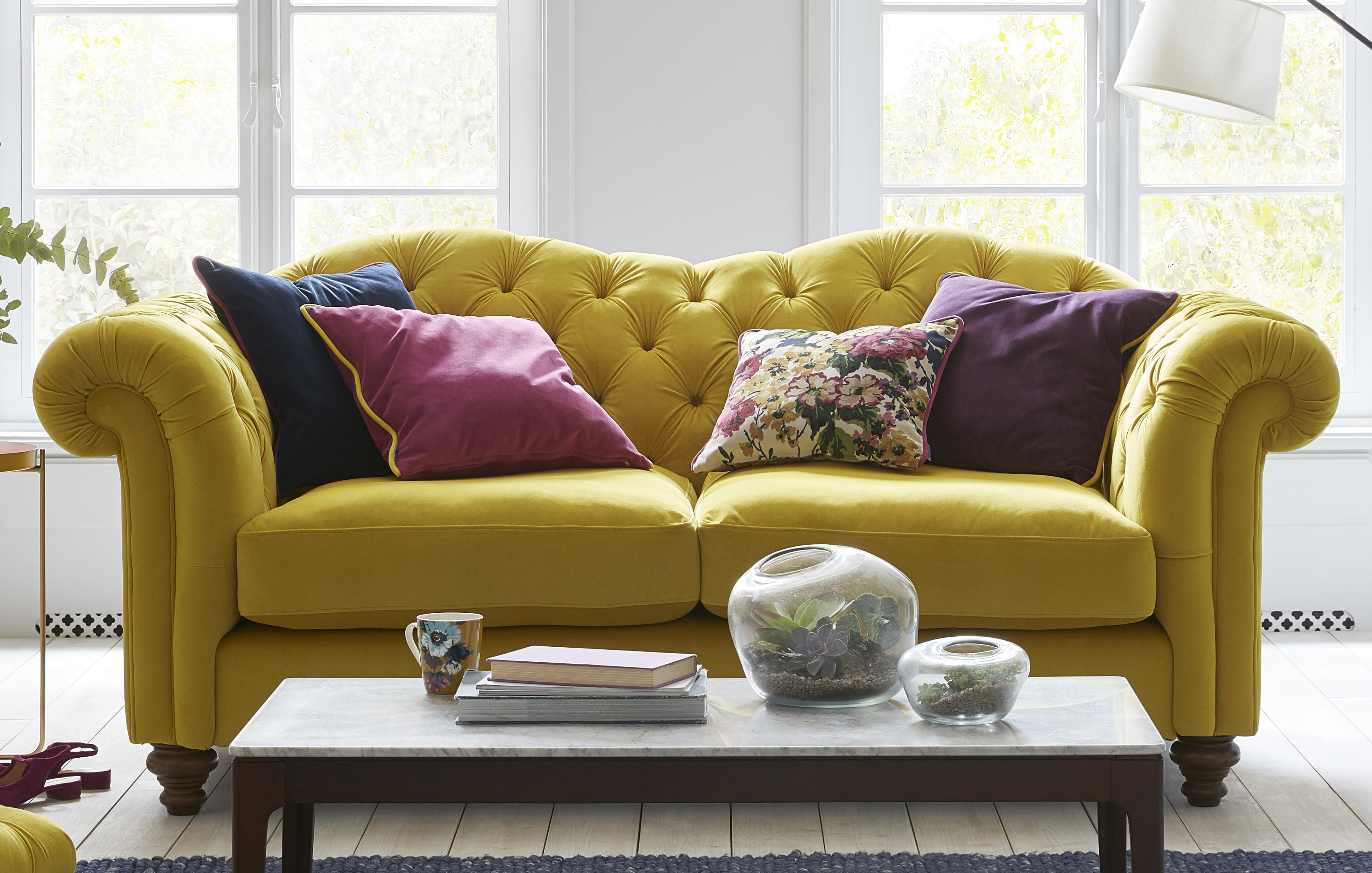 Fabric Sofas That Are Perfect For Your Home   DFS Windsor Velvet 3 Seater Sofa Windsor Velvet Joules