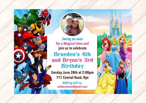 Invitation Format Birthday Party