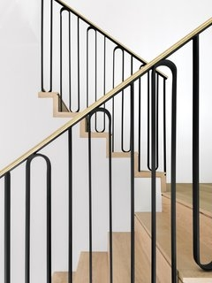 Best 60 Modern Staircase Metal Railing Design Photos And Ideas | Mid Century Modern Stair Handrail | Vertical | Decorative | Fixer Up | Living Room | Contemporary Curved Staircase