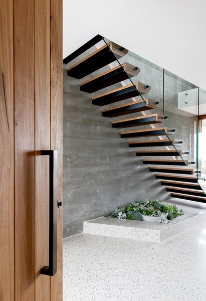 Best 60 Modern Staircase Wood Railing Design Photos And Ideas Dwell | Modern Wood Staircase Railing | Interior | Stylish | Wall Mounted | Contemporary | House
