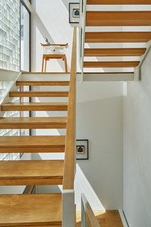 Best 60 Modern Staircase Wood Railing Design Photos And Ideas Dwell | Wooden Hand Railing Designs | Light Wood | Residential Industrial Stair | Wood Panel | Decorative Glass | Scandinavian