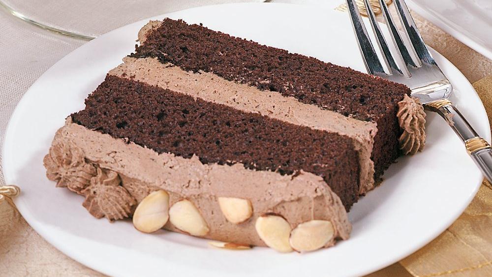 Chocolate Almond Mousse Cake Recipe From Pillsbury Com