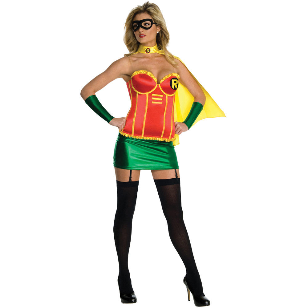 Ladies Sexy Robin Batman Super Hero Fancy Dress Halloween Costume