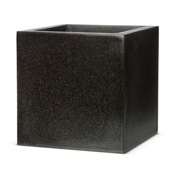 Mother Ideas  Black Square Plant Pots  of 3 Rattan Garden Furniture     Black Square Plant Pots   Black Terrazzo Look Square Planter Capi Lux  Garden Flower Box Large