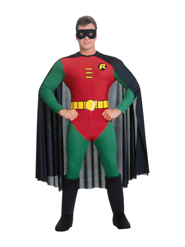 Adult Robin Superhero Fancy Dress Costume Batman Superhero Mens Gents Male | eBay
