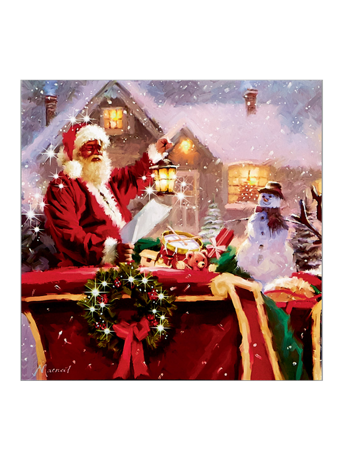 Christmas Led Canvas Art Print