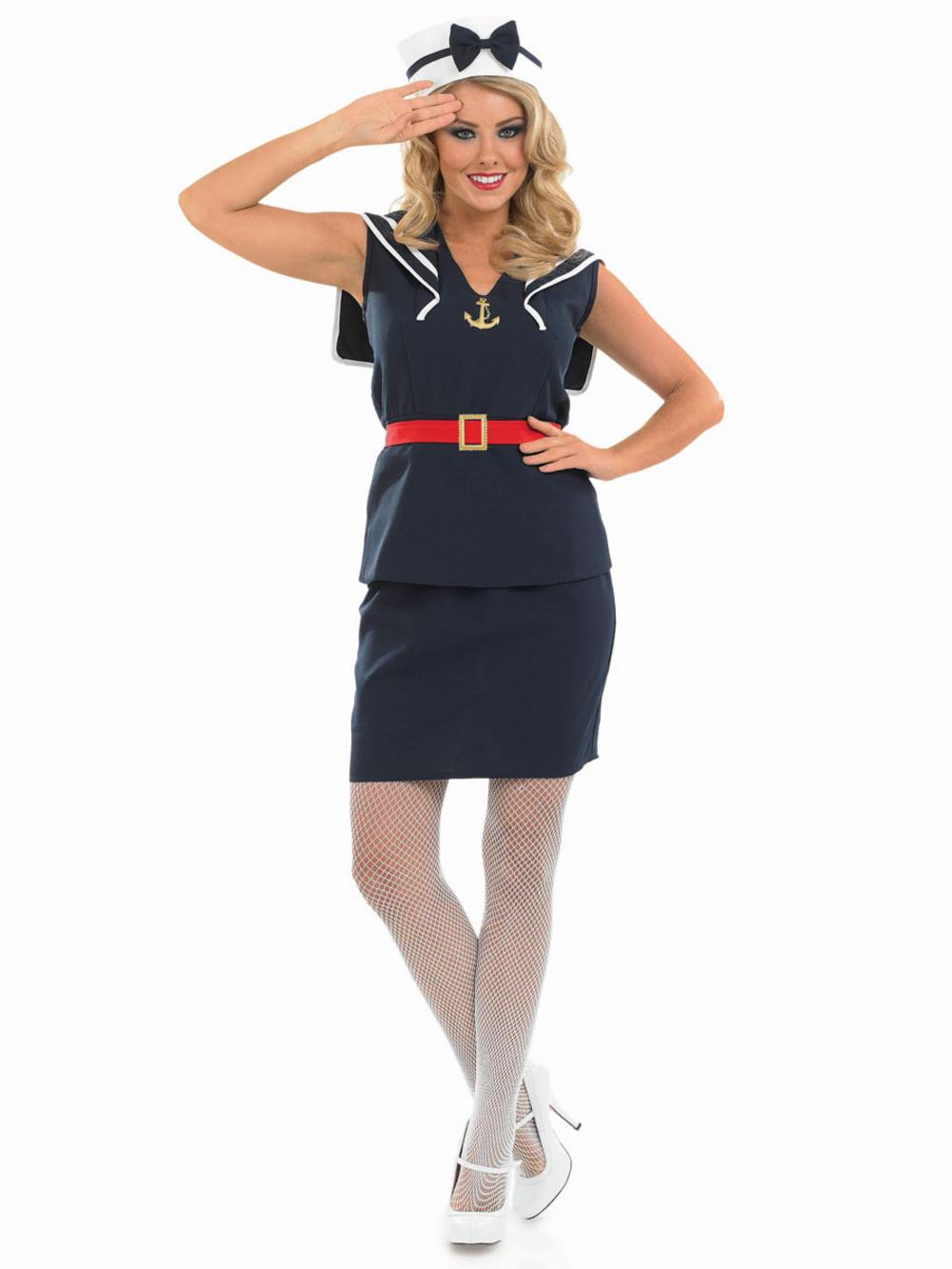 Pin Up Sailor Girl Costume | All Ladies Costumes | Mega ...