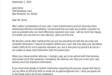 example letter firing attorney » Free Professional Resume ...