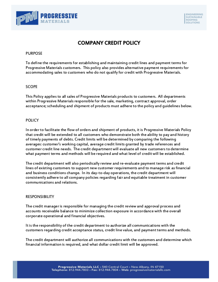 Policy Manual Signature Page Template
