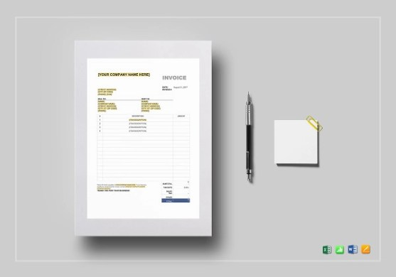 15  Blank Invoice Examples in Word Blank Sales Tax Invoice Template