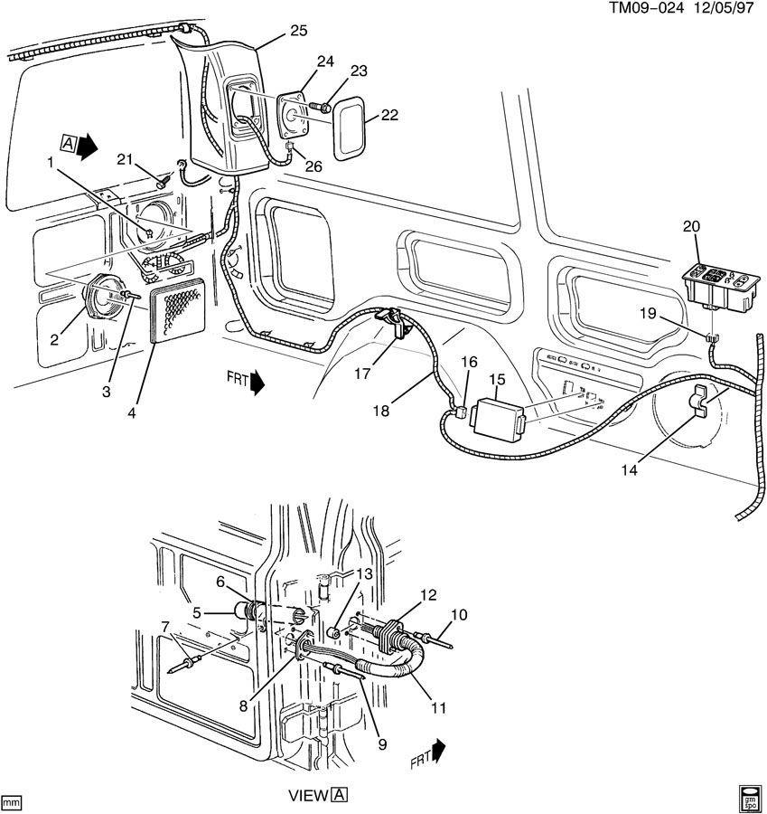 Lock Wiring 1995 Door Dutch Chevrolet Van Astro Diagram