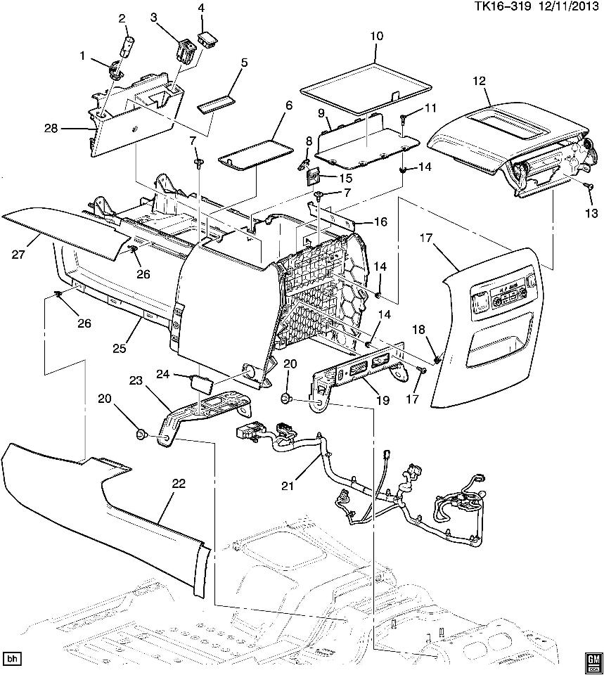Motorcycle wiring diagrams · elecfaq · 2015 2016 gm suburban tahoe yukon center console new black dark ash 23264449 23264449