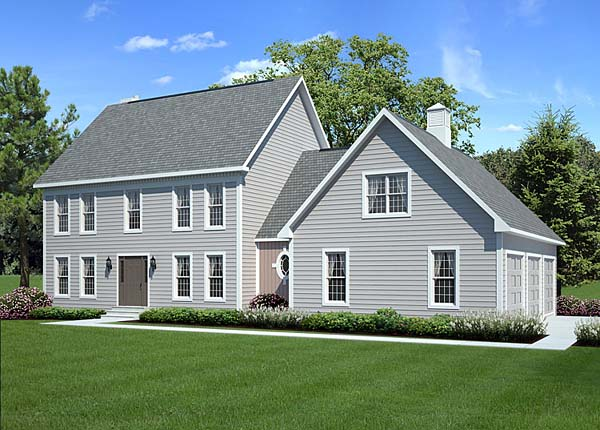 House Plan 24966 at FamilyHomePlans com Colonial Country Traditional House Plan 24966 Elevation