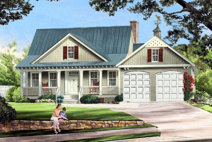 House Plan 86341 at FamilyHomePlans com Cottage Country Farmhouse House Plan 86341 Elevation