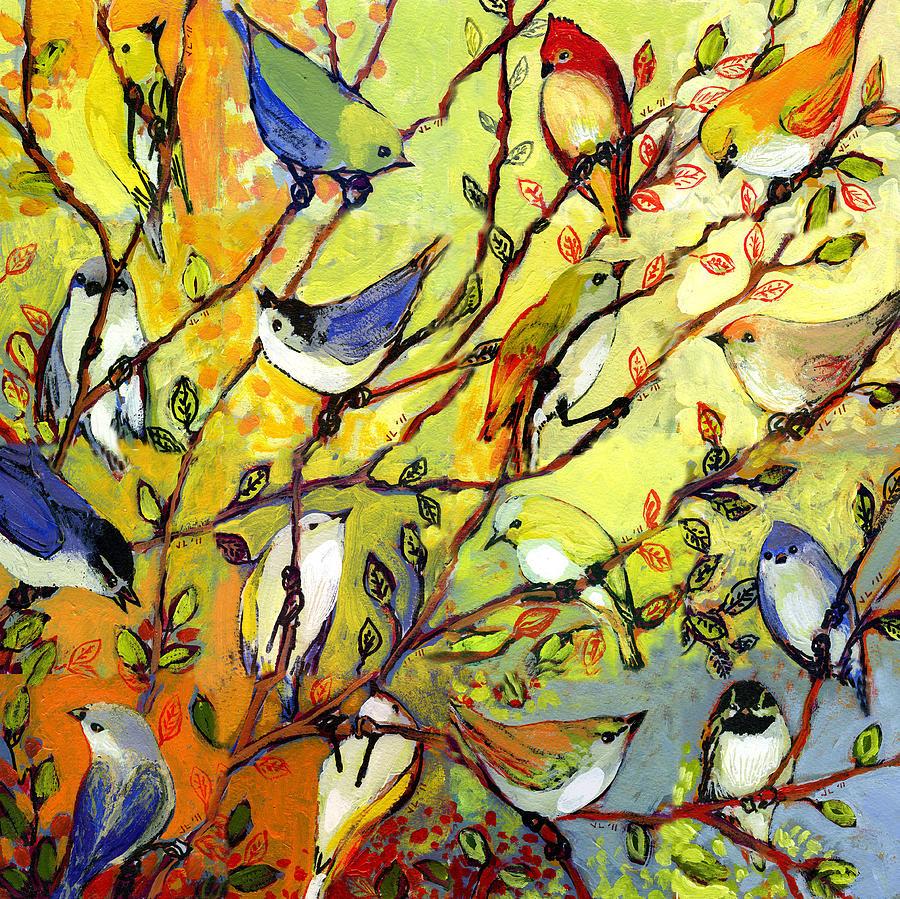 Bird Tree Pillows Throw