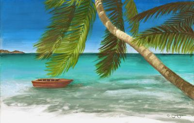 Island Breeze Painting by Jamin Huber