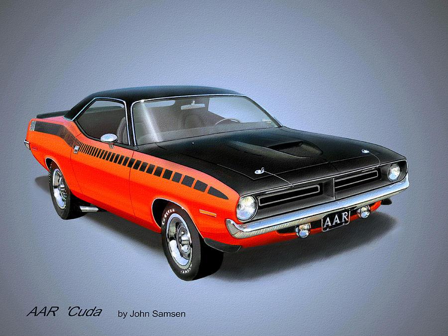 1970 Cuda Aar Classic Barracuda Vintage Plymouth Muscle