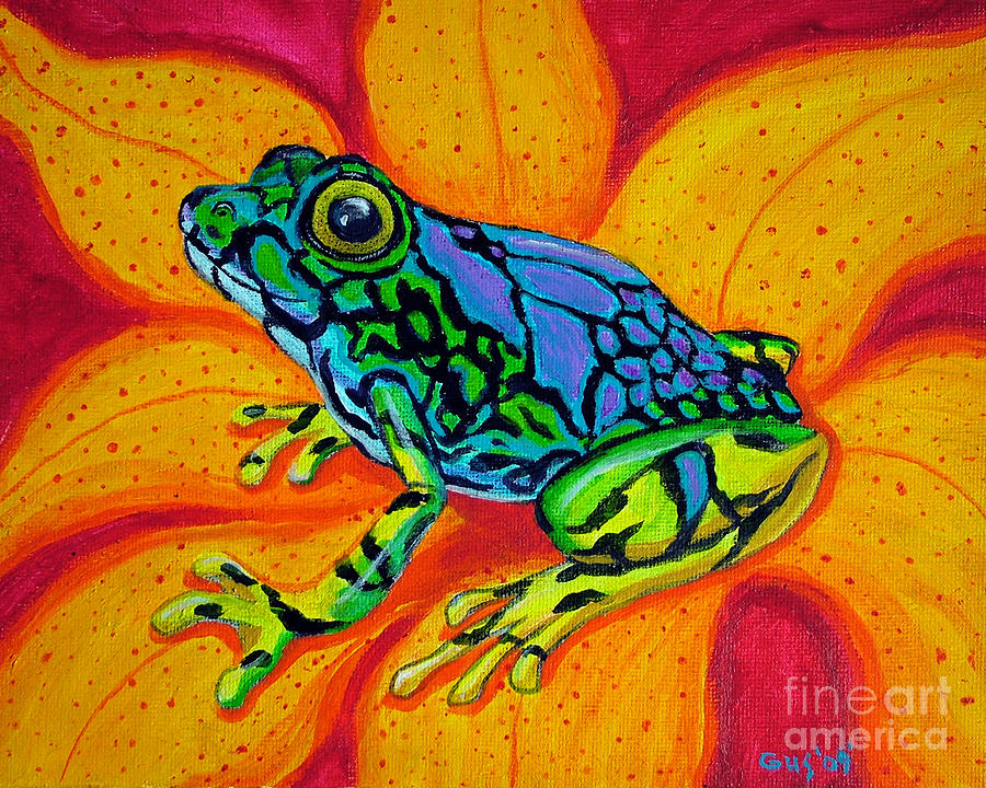 Colorful Frog Painting by Nick Gustafson