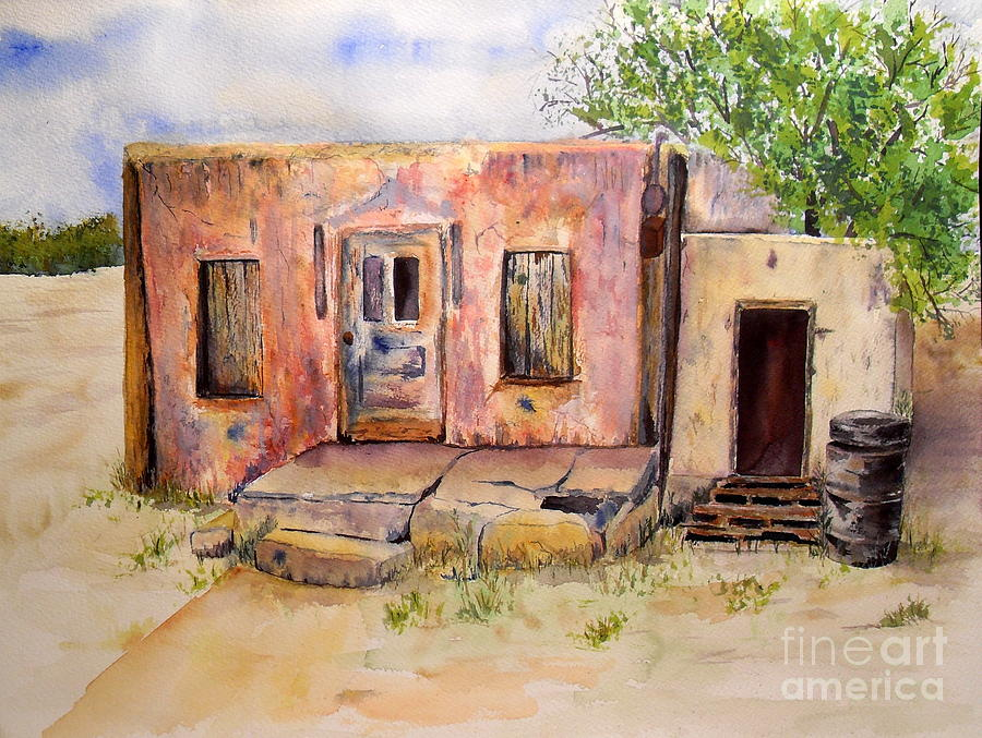 Paintings Mexican Adobe Houses