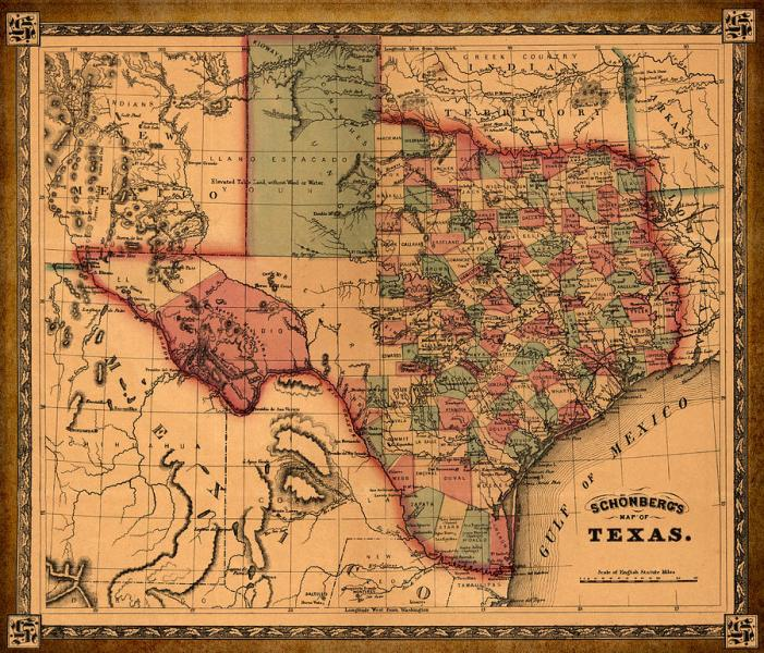 Texas Map Art   Vintage Antique Map Of Texas Drawing by World Art     Texas Drawing   Texas Map Art   Vintage Antique Map Of Texas by World Art  Prints