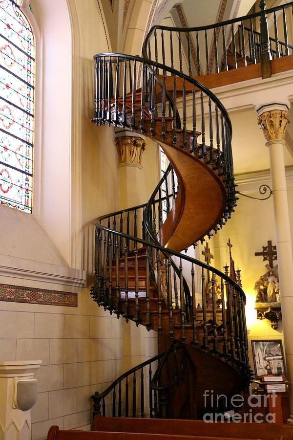 The Loretto Chapel Spiral Staircase Photograph By Christiane   Chapel With Spiral Staircase   Catholic Church   Stairway   Miraculous   Choir Loft   Sante Fe