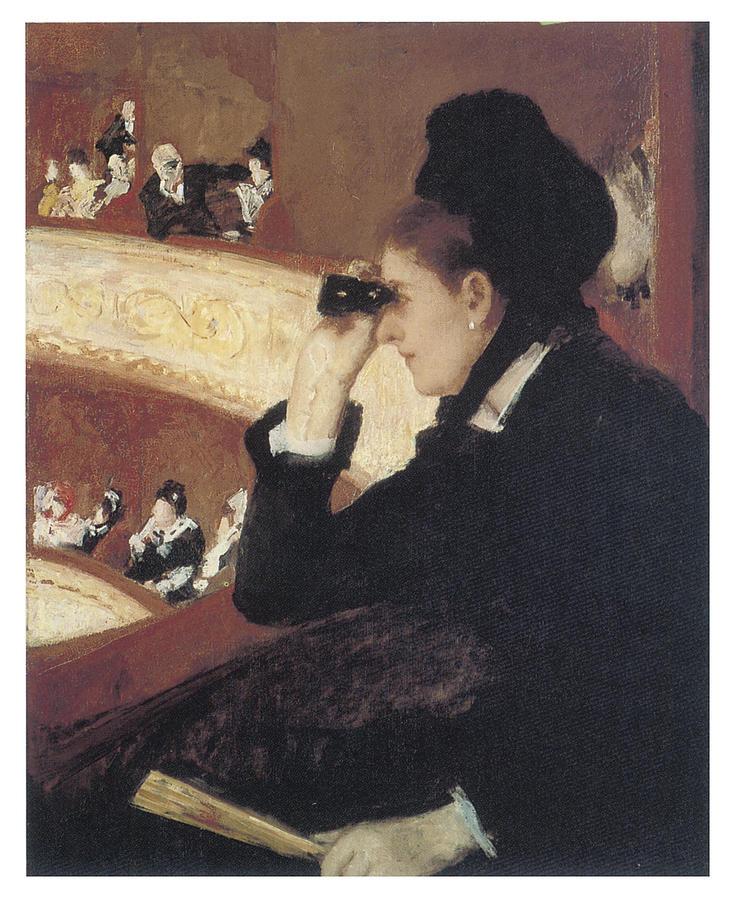 Opera Mary Cassatt Woman Black