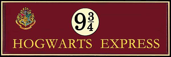 Harry Potter Hogwarts Express Train Platform 9 3/4 Sign ...