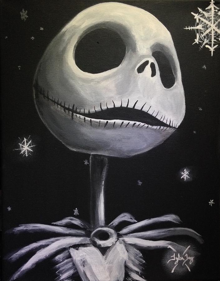 Jack Skellington Painting by Tyler Haddox