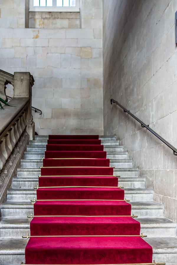 Red Carpet Stairs Photograph By Elisabeth De Vries | Stairs With Red Carpet | Event | Gold | Spiral Staircase | Traditional | White