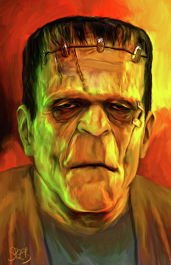 The Frankenstein Monster Mixed Media by Mark Spears