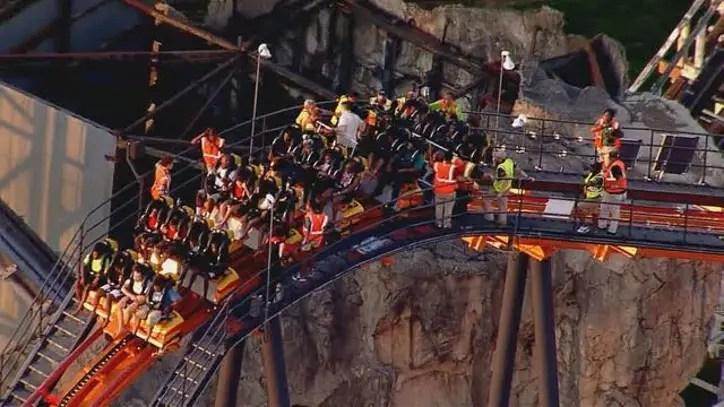 Officials Firebird Roller Coaster Stuck At Six Flags