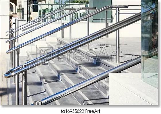Free Art Print Of Stainless Steel Railings Stainless Steel | Stainless Steel Hand Railing | Balustrade | Modern | Fabrication | Welded Steel | Stair Outdoors