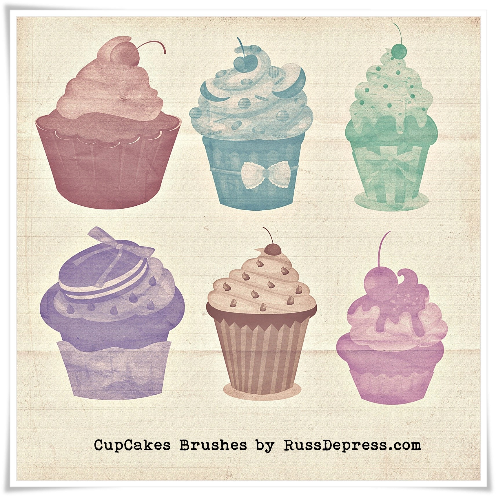 60 Sweets Photoshop Brushes Abr Atn Download