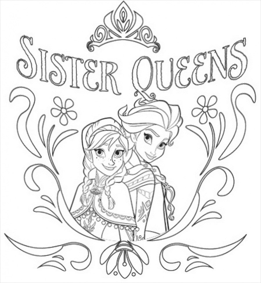 14 Free Frozen Coloring Pages Pdf Download