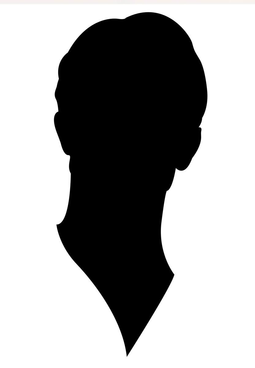 Silhouette Boys Face