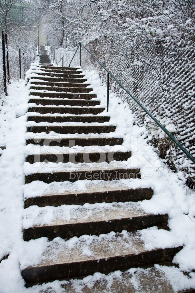Stairs In Snow Stock Photos Freeimages Com | Outdoor Stair Treads For Winter