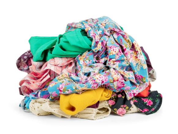 Pile of Clothing Isolated on White stock photos ...