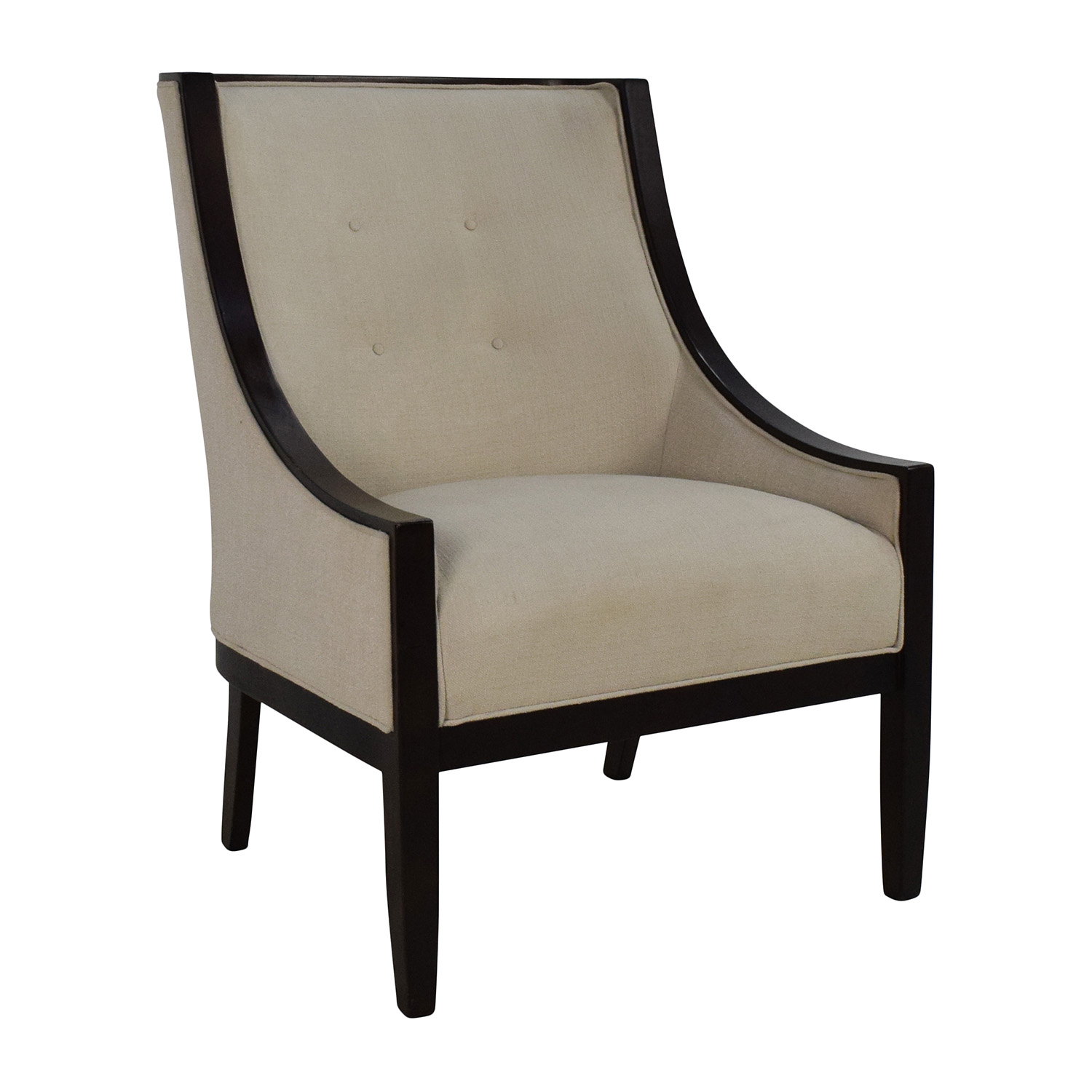 Cream Tufted Accent Chair