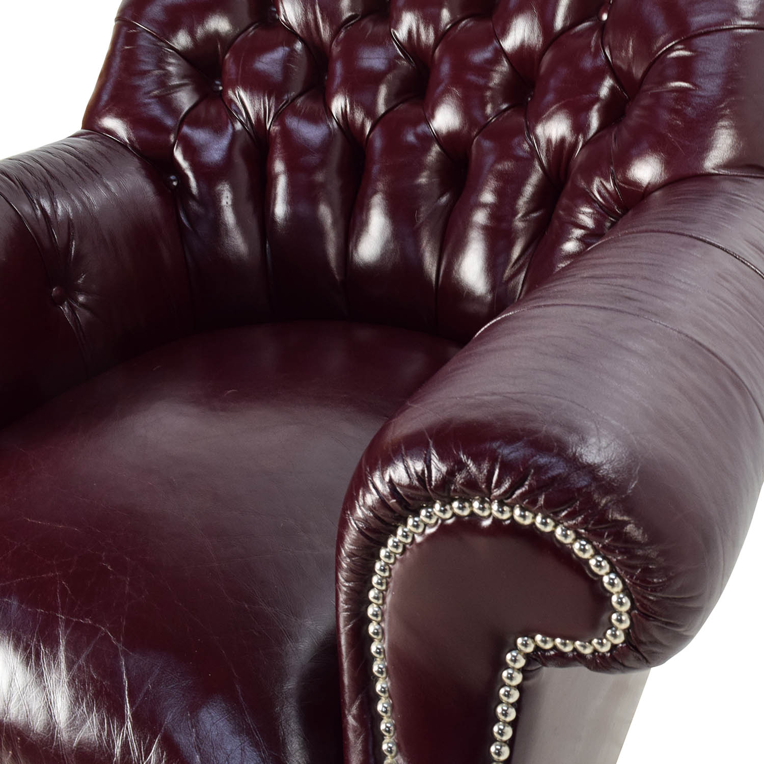 Tufted Leather Accent Chair