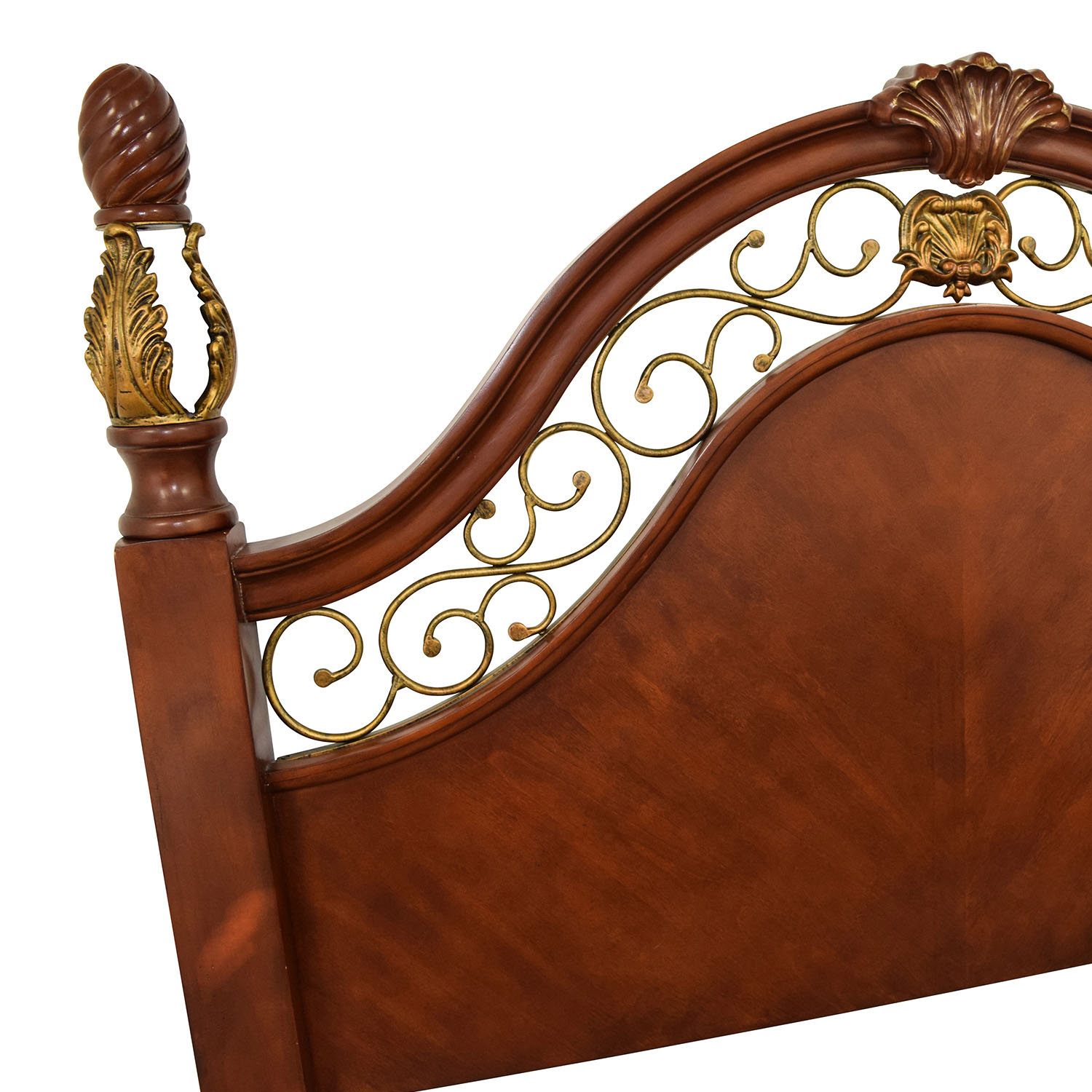 90 Off Unique Ornate Wood And Metal Queen Size Bed Beds