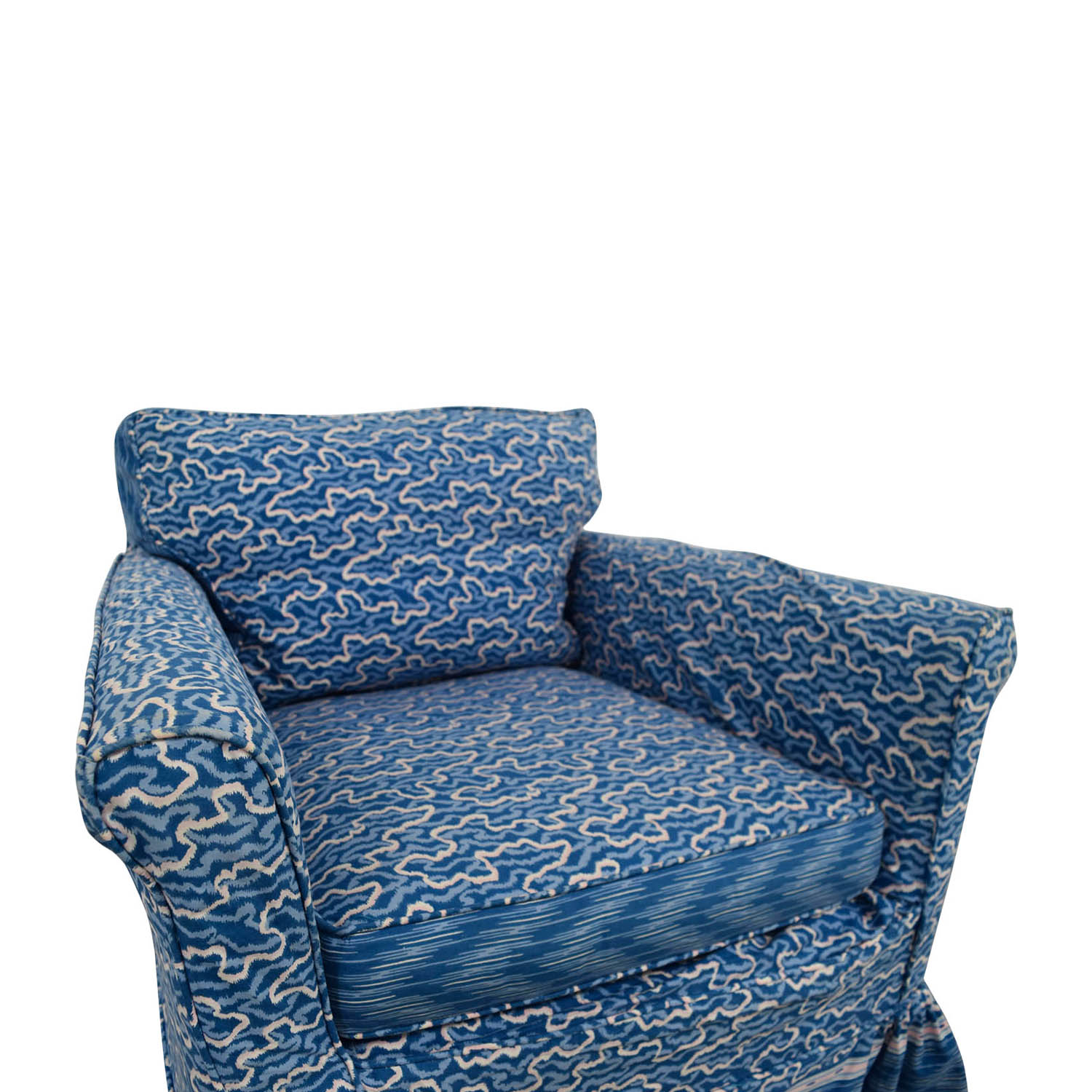 Small Blue Accent Chair