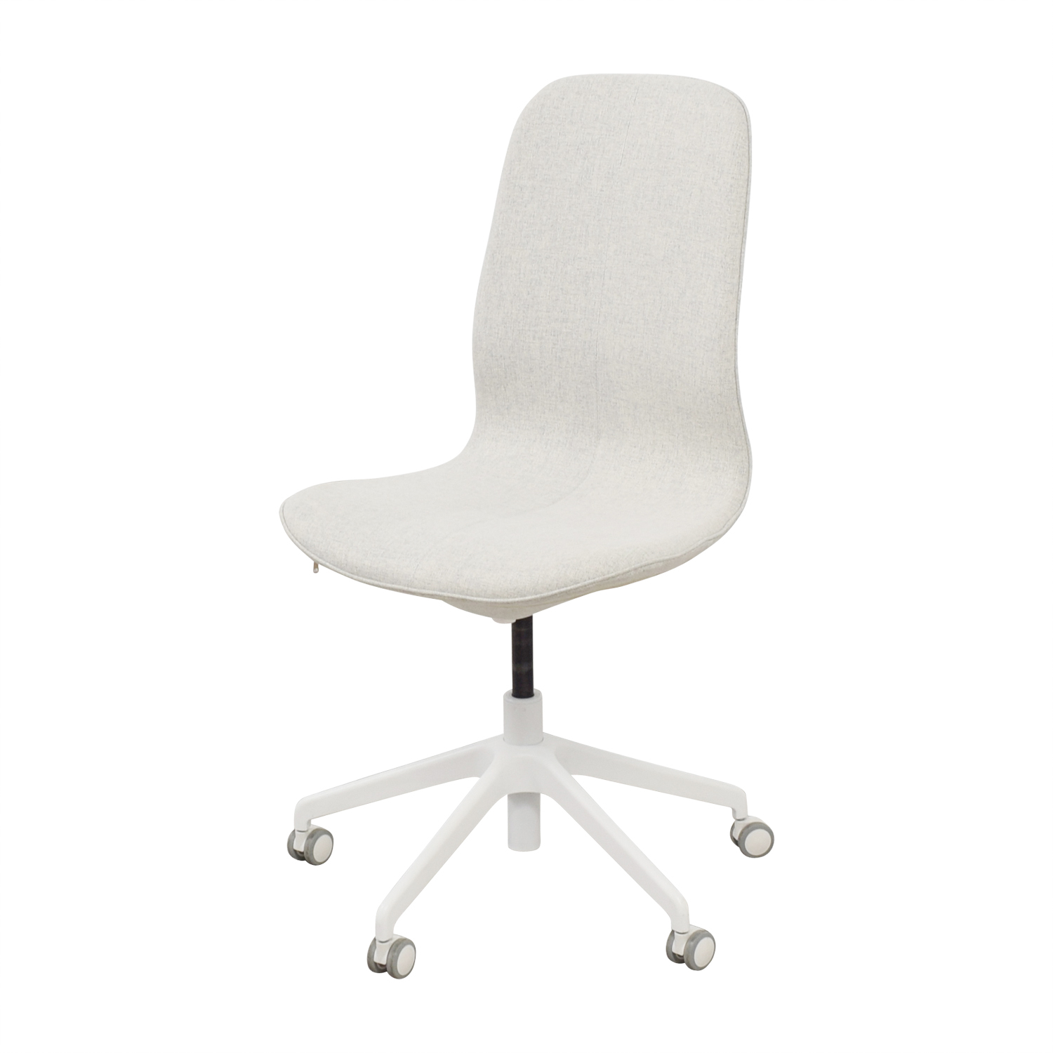 White Swivel Accent Chair