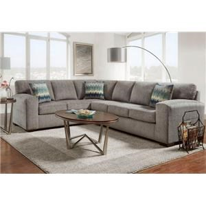 Sectional Sofas   Milwaukee  West Allis  Oak Creek  Delafield     Affordable Furniture 5950 Silverton Pewter Sectional Sofa