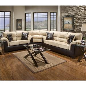 Affordable Furniture 6200 Fabric Faux Leather Sectional with Wedge     Affordable Furniture 6200 Fabric Faux Leather Sectional with Wedge    Colder s Furniture and Appliance   Sofa Sectional