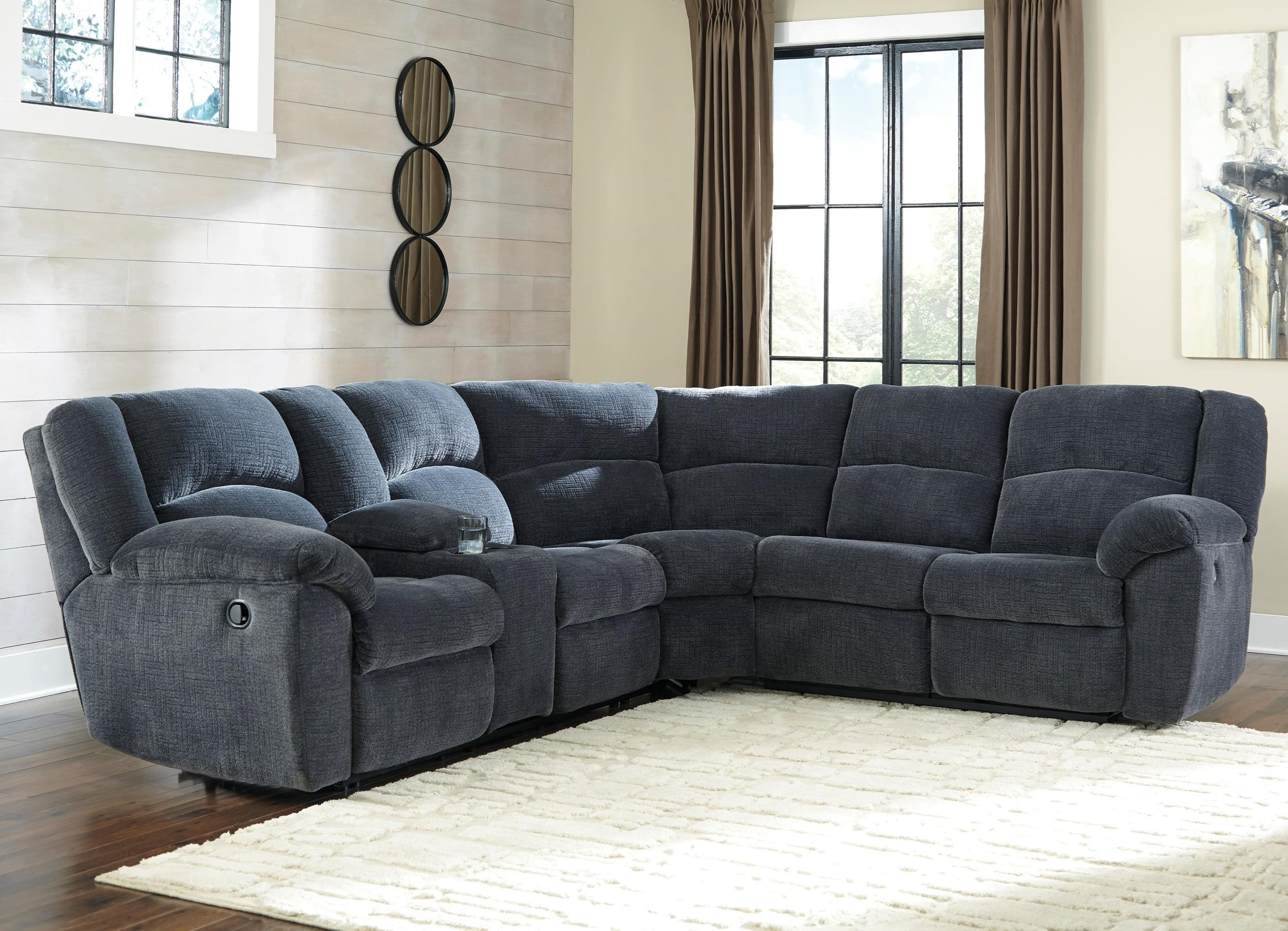 Best Kitchen Gallery: Benchcraft Timpson Reclining Sectional With Storage Console of Loveseat Sectional  on rachelxblog.com