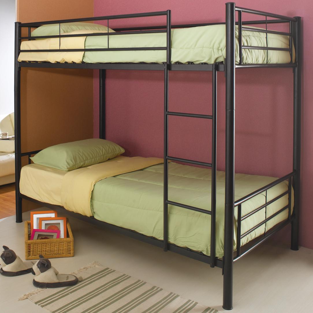 Coaster Denley 460072b Metal Twin Over Twin Bunk Bed